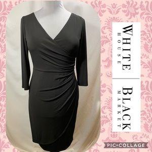 WHBM Black 3/4 Sleeve Cocktail Dress